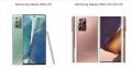 Samsung Galaxy Note 20 vs Samsung Galaxy Note 20 Ultra 5G