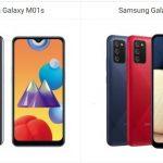 Samsung Galaxy M01s vs Samsung Galaxy M02s